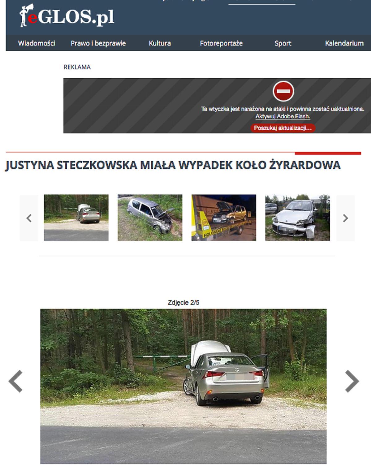 Justyna Steczkowska miała wypadek samochodowy!