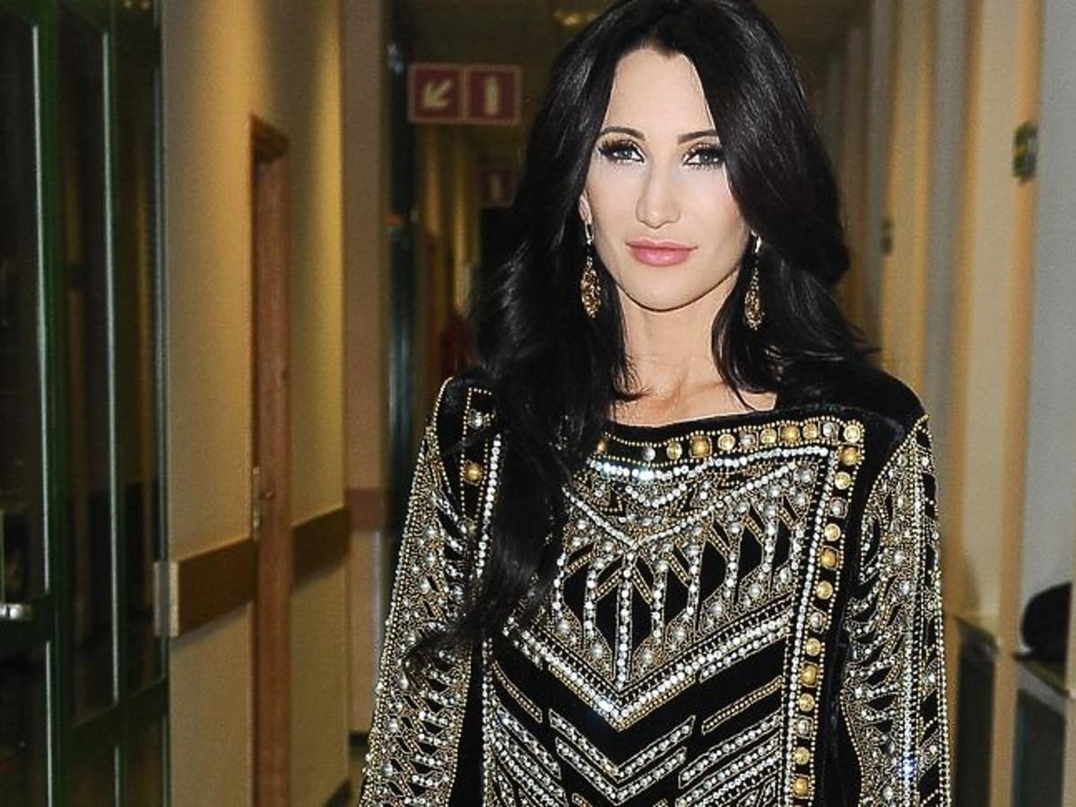 Justyna Steczkowska w sukience Balmain dla H&M