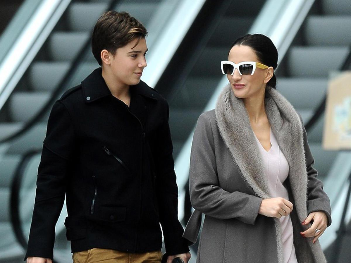 Justyna Steczkowska z synem na zakupach