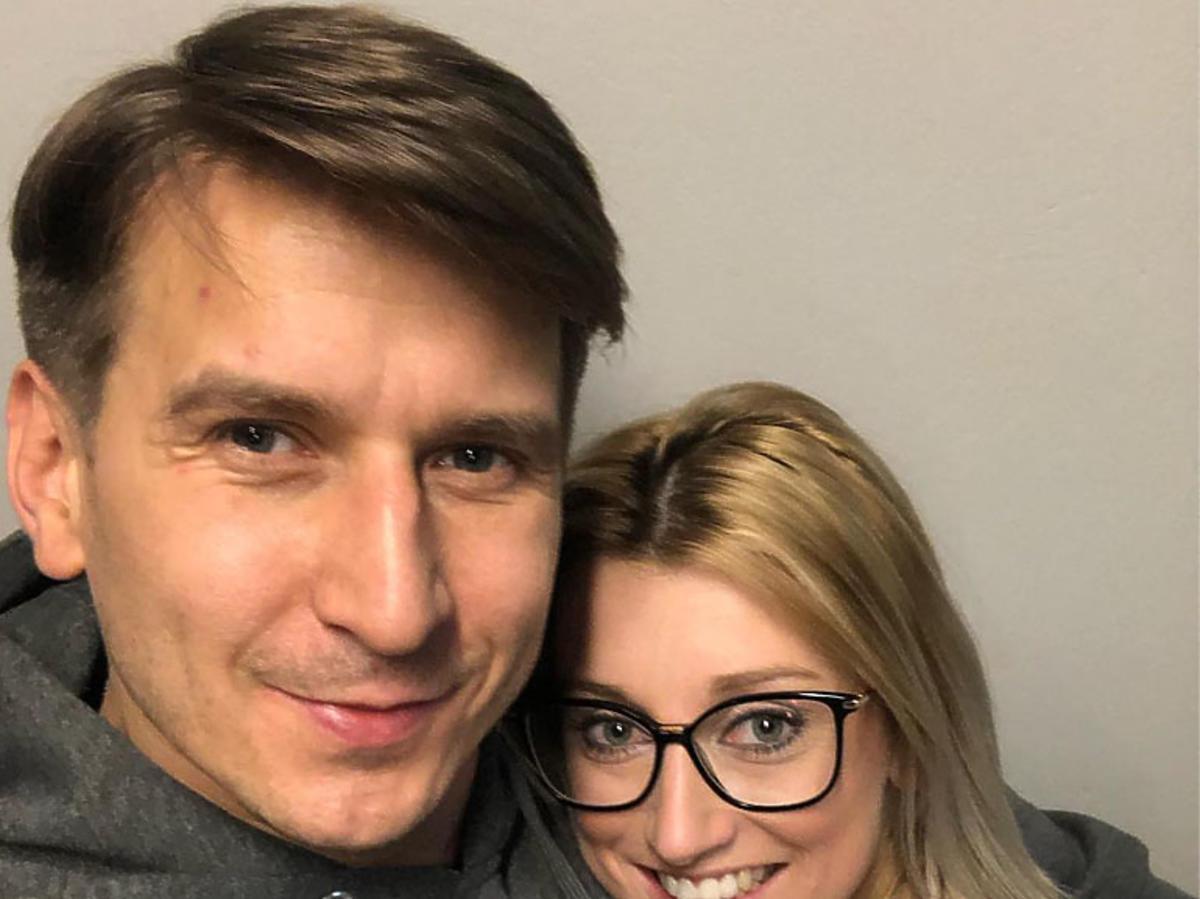 Justyna Żyła i Tomasz Barański na planie TZG