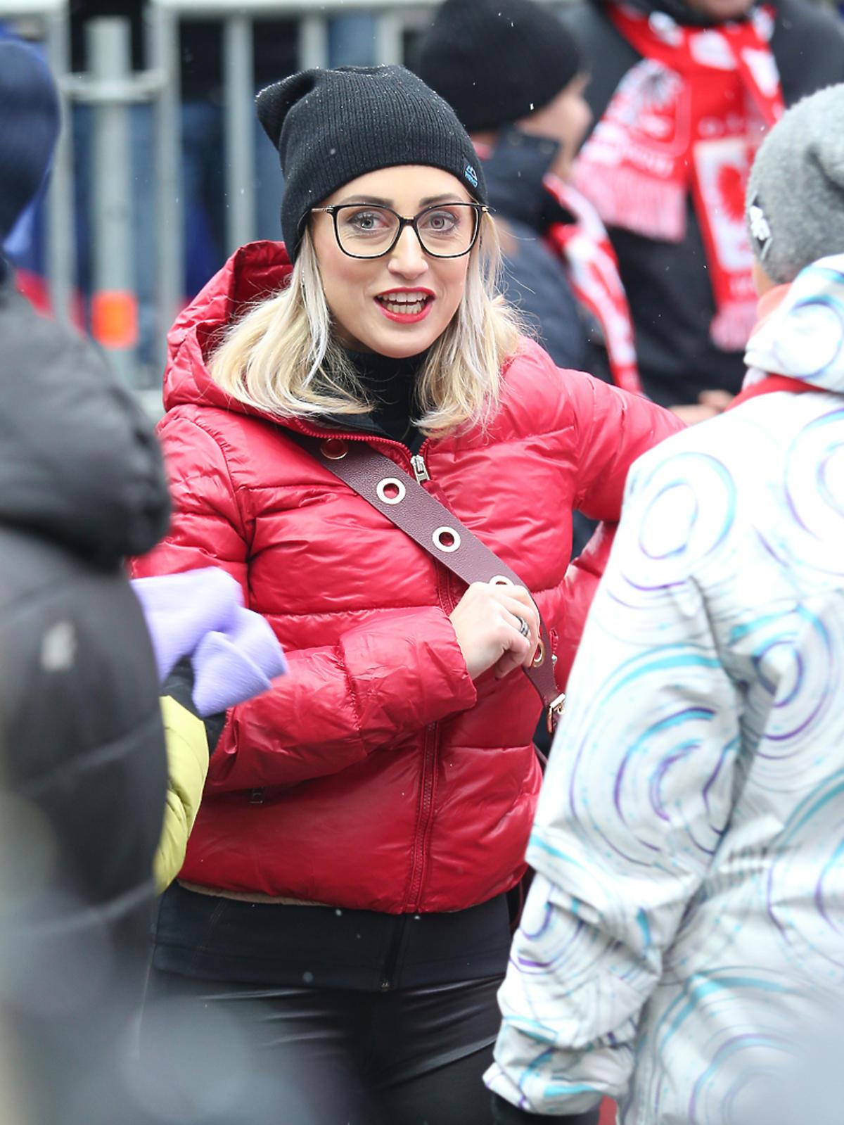 Justyna Żyła na konkursie skoków narciarskich w Wiśle
