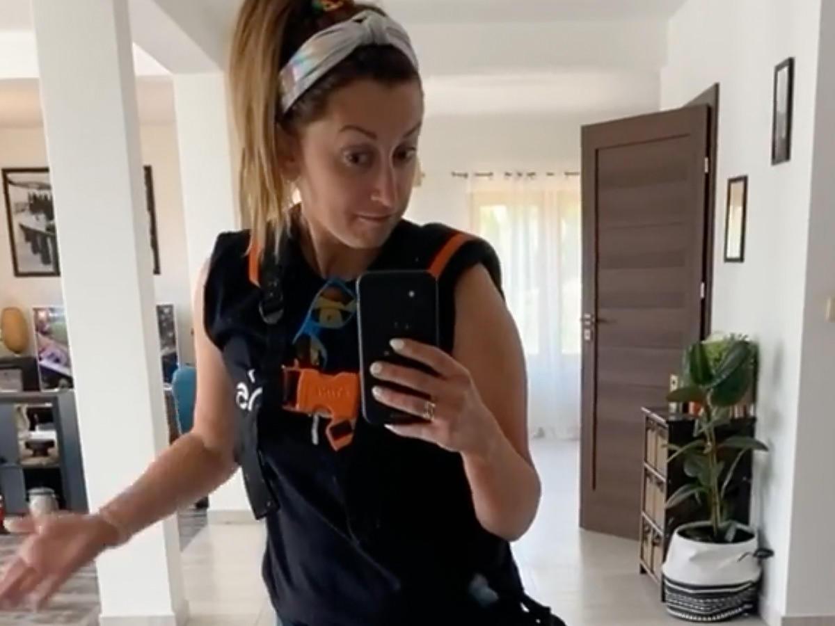 Justyna Żyła na selfie z Instagrama