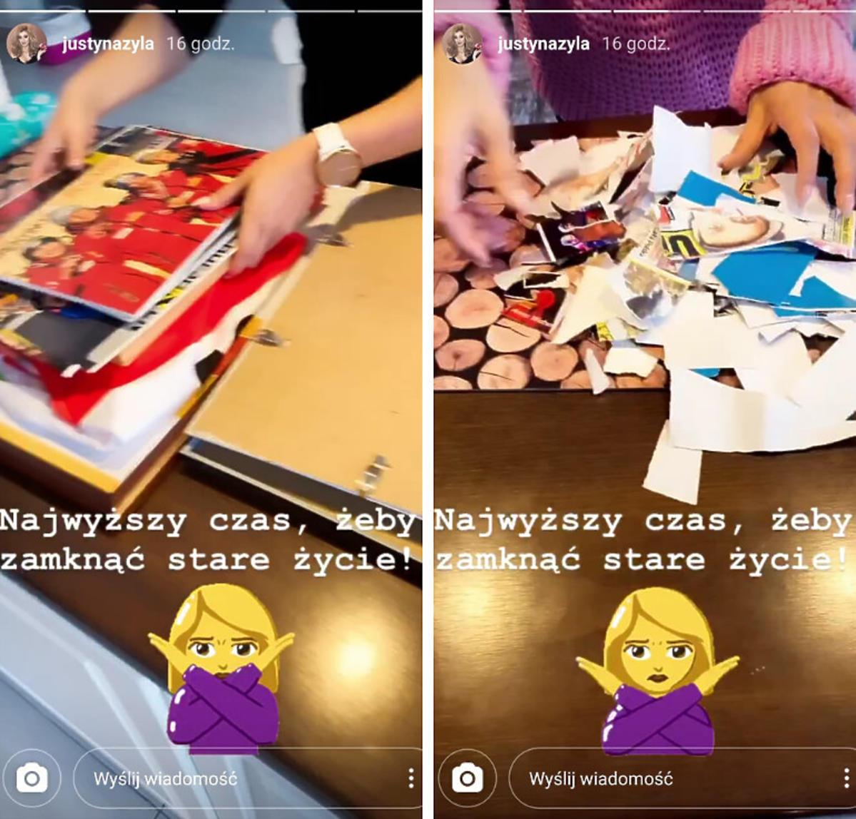 Justyna Żyła pokazała, jak niszczy zdjęcia byłego męża