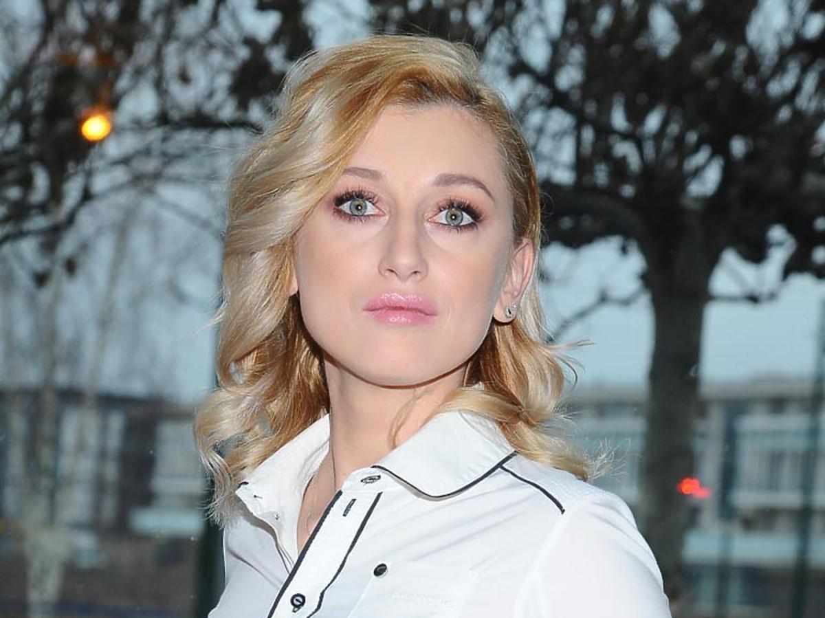 Justyna Żyła w białej koszuli