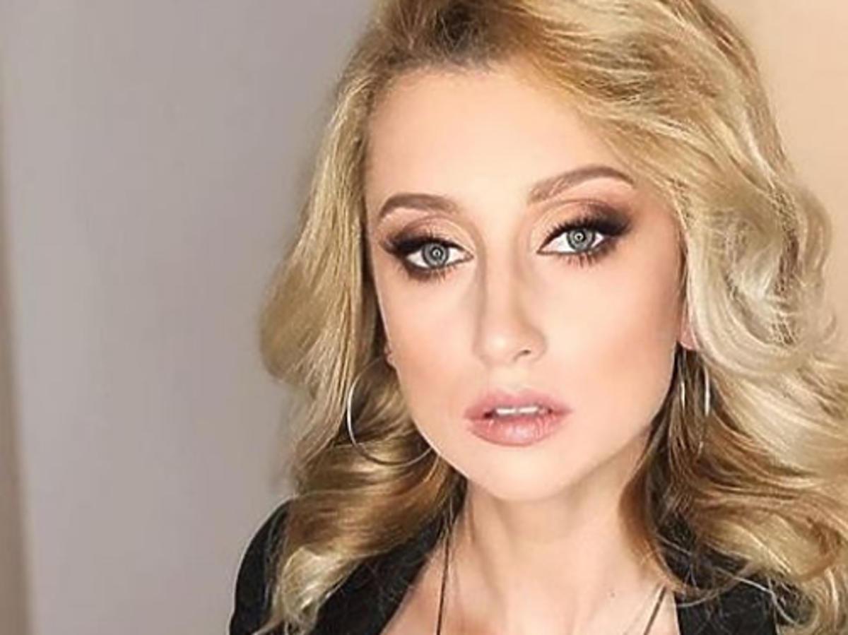 Justyna Żyła w mocnym makijażu