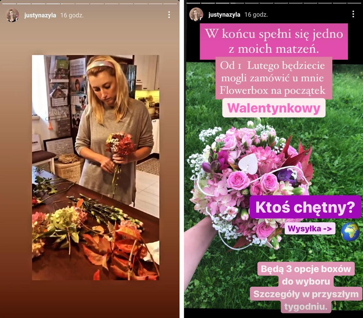 Justyna Żyła wchodzi w nowy biznes. Będzie sprzedawać kwiaty... w pudełkach
