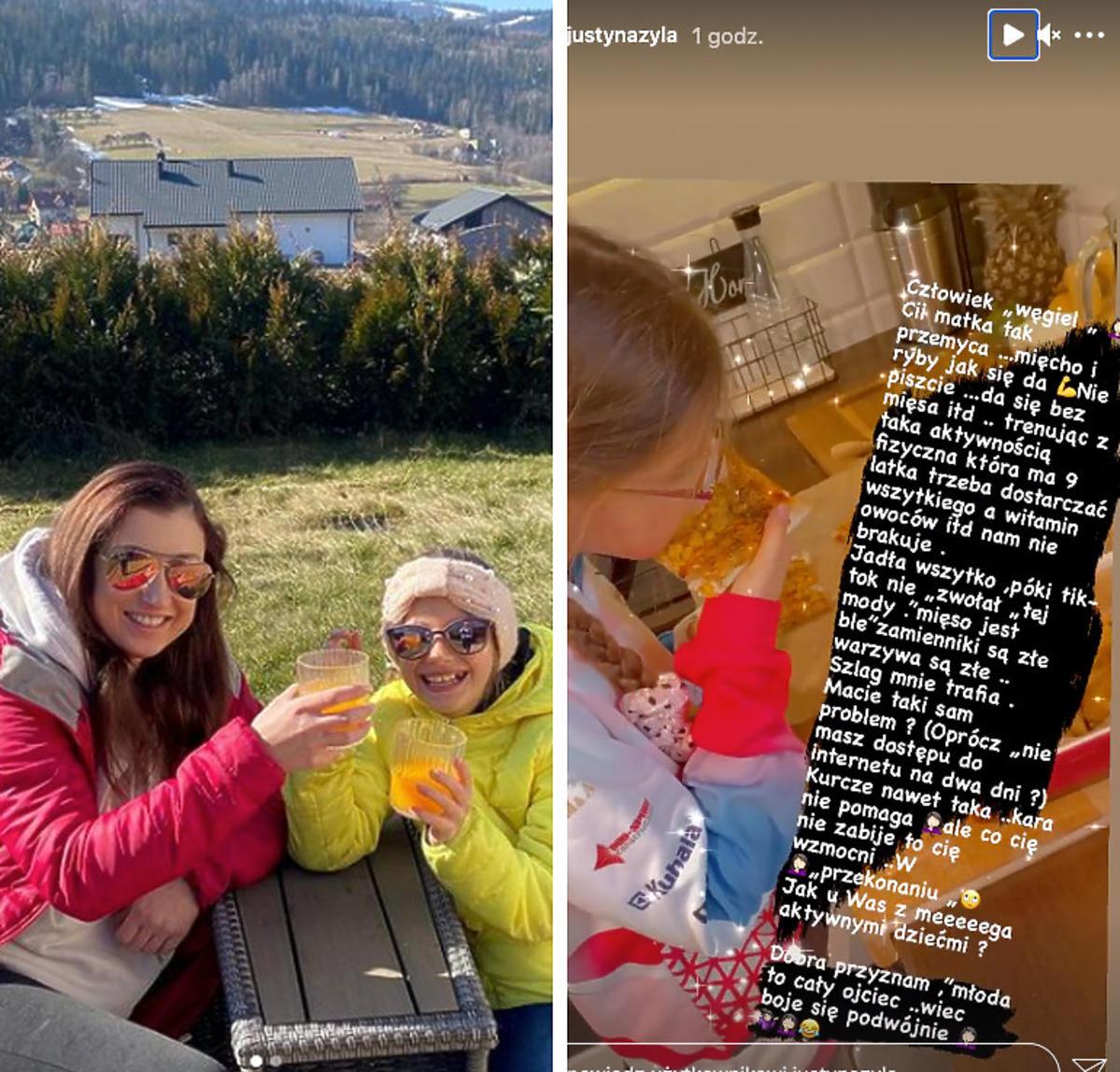 Justyna Żyła z córką