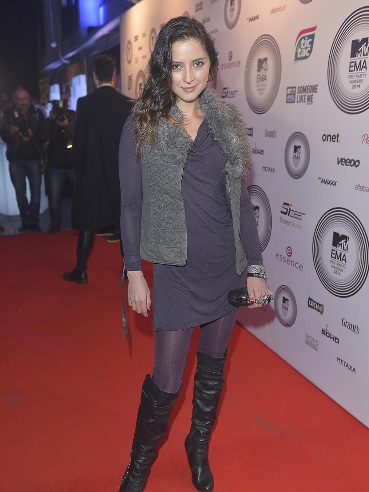 Kalina Hlimi-Pawlukiewicz na MTV EMA PreParety 2014