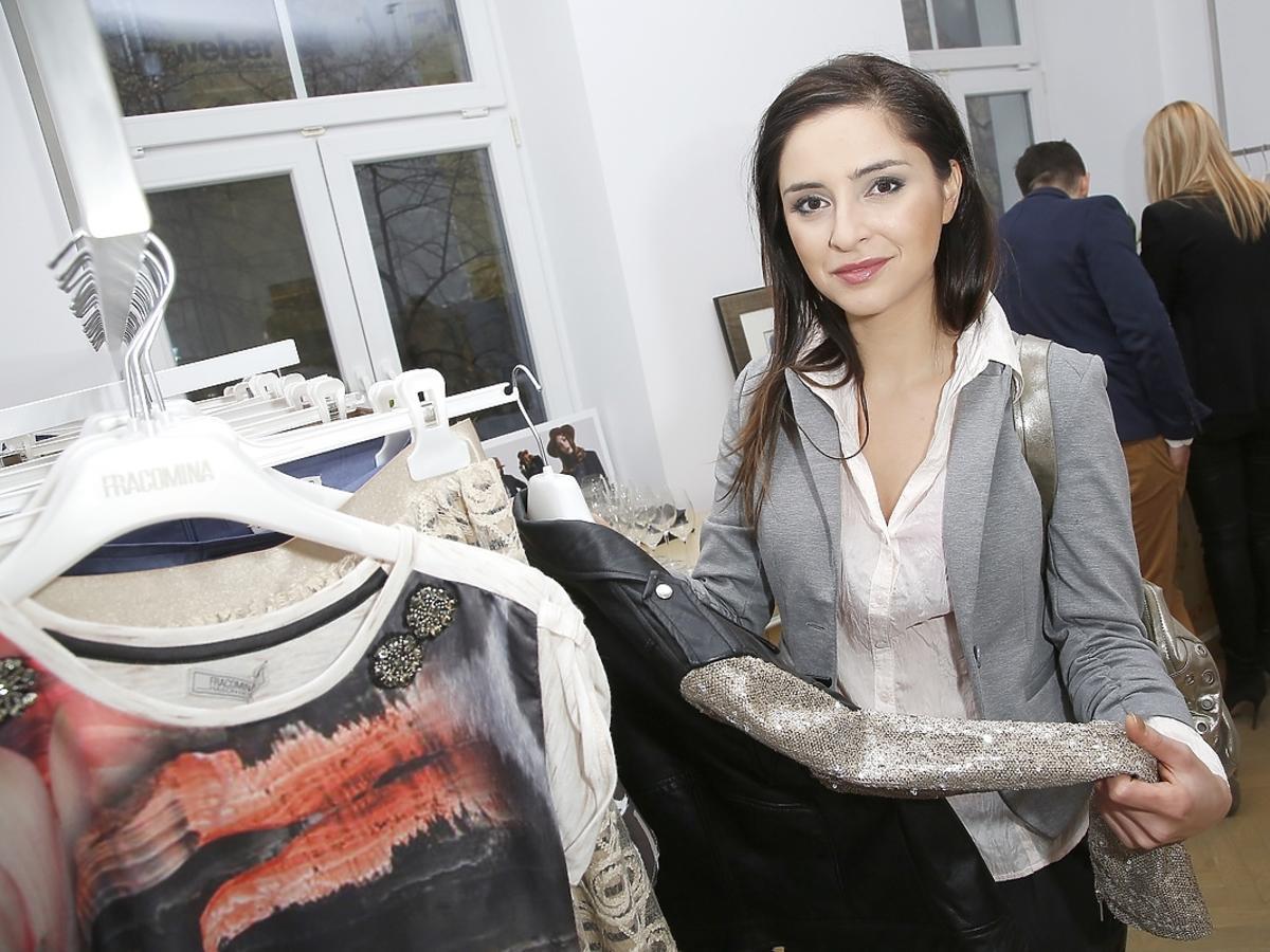 Kalina Hlimi-Pawlukiewicz na press day FRACOMINA