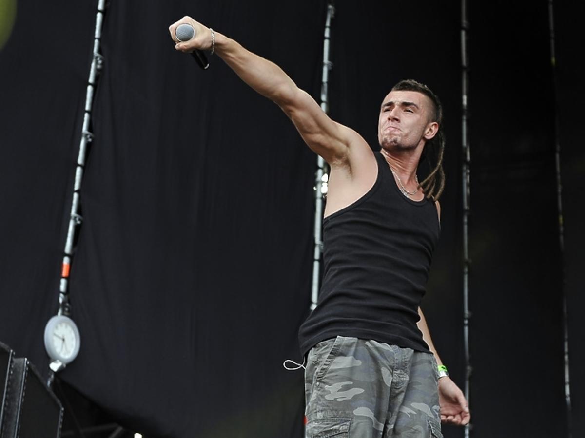 Kamil Bednarek podczas Jarocin Festiwal 2013
