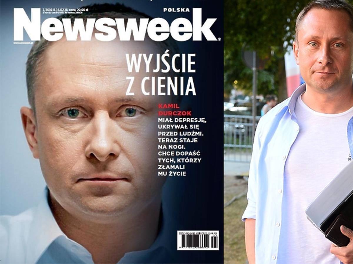 Kamil Durczok na okładce Newsweeka