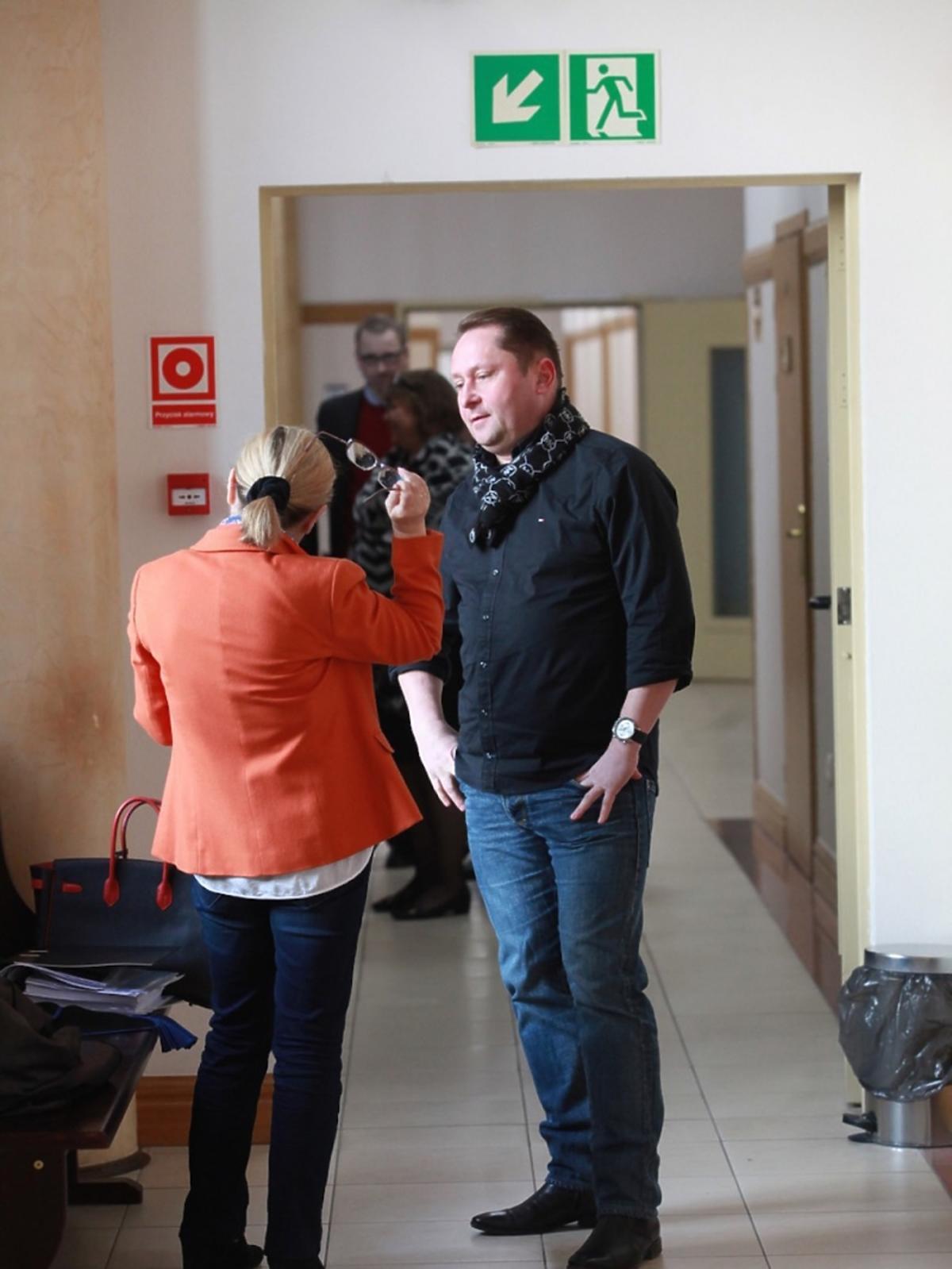 Kamil Durczok podczas rozprawy sądowej
