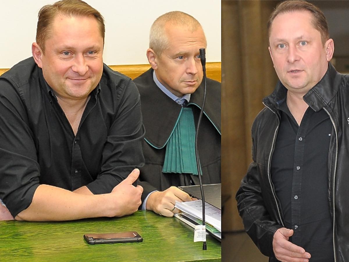 Kamil Durczok podczas rozprawy sądowej przeciwko Wprost