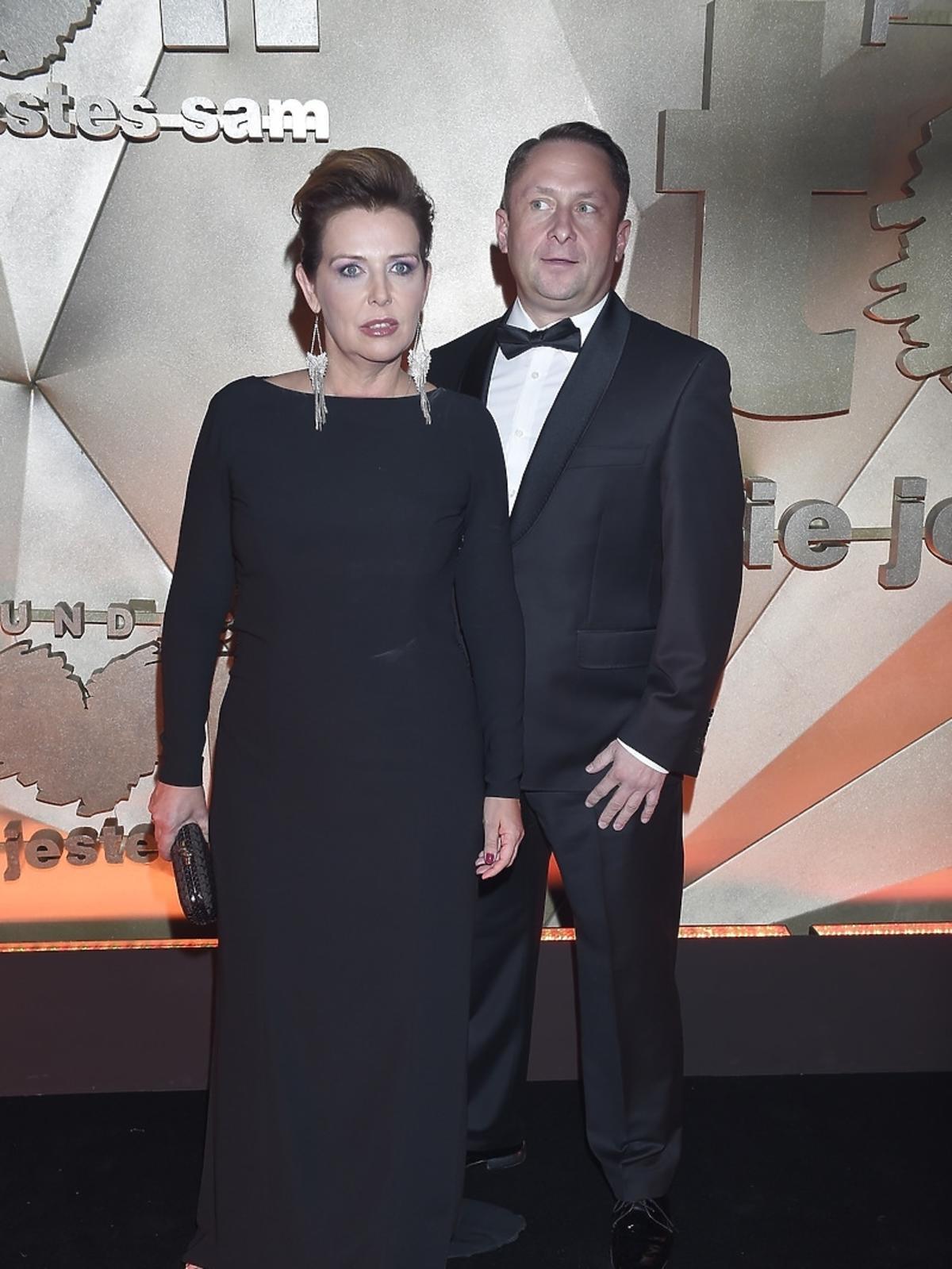 Kamil Durczok z żoną na Balu Fundacji TVN