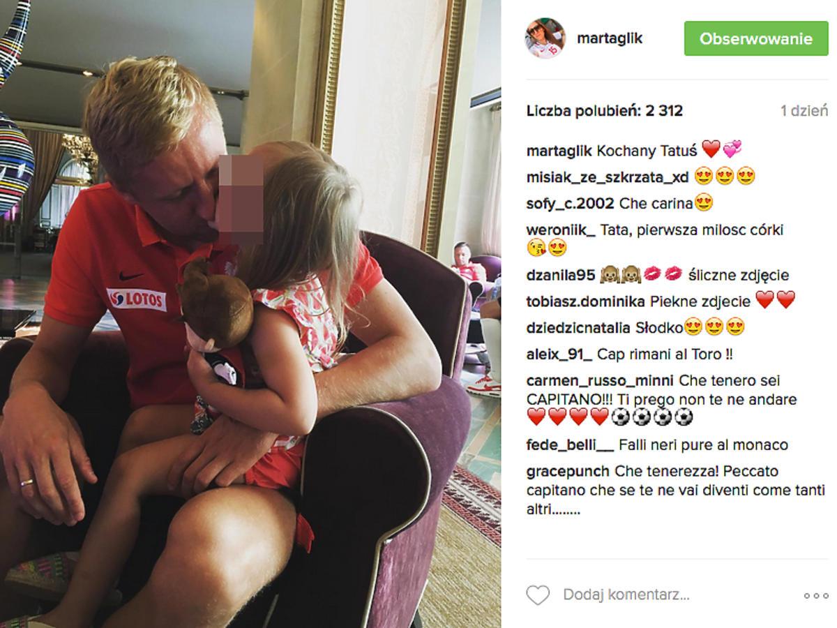 Kamil Glik z córką