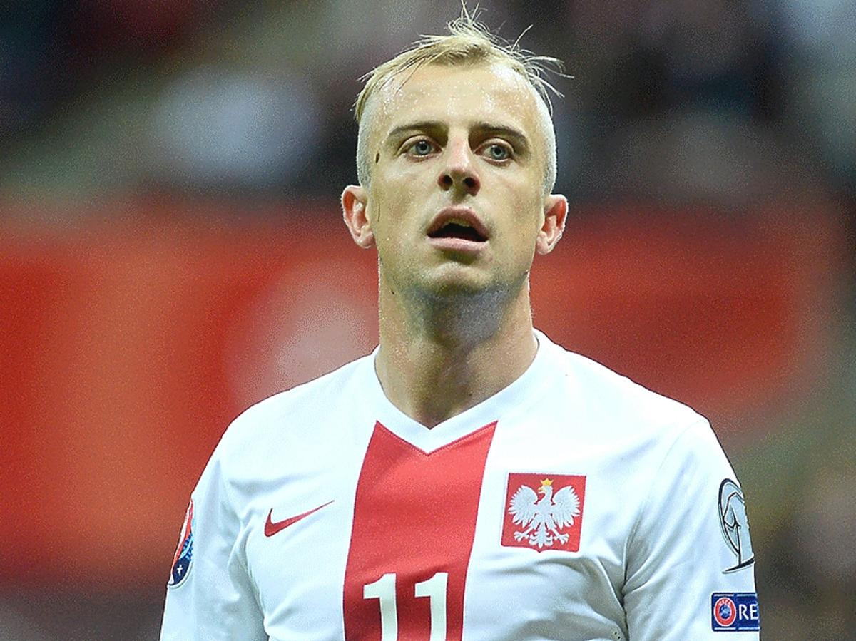 Kamil Grosicki podczas meczu reprezentacji Polski z Irlandią