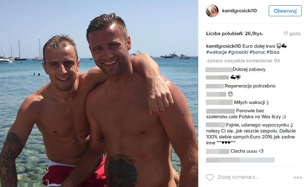Kamil Grosicki pokazał zdjęcie z Arturem Borucem