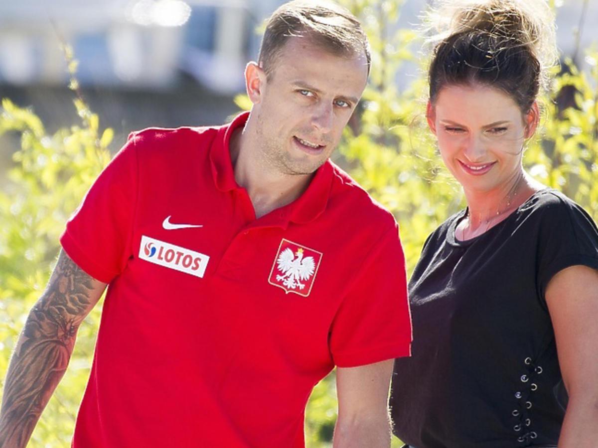 Kamil Grosicki z żoną, Dominiką