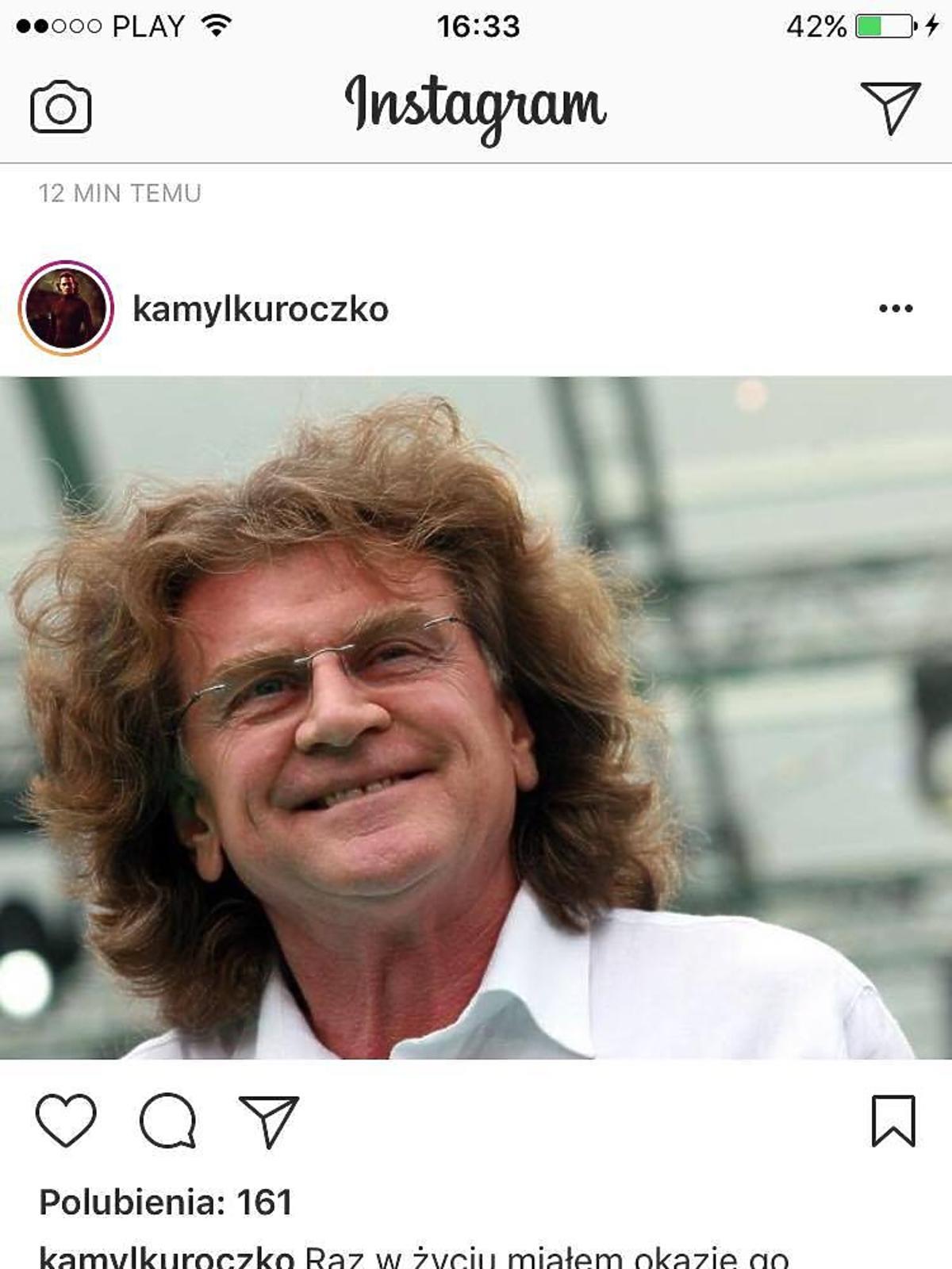 Kamil Kuroczko żegna Zbigniewa Wodeckiego