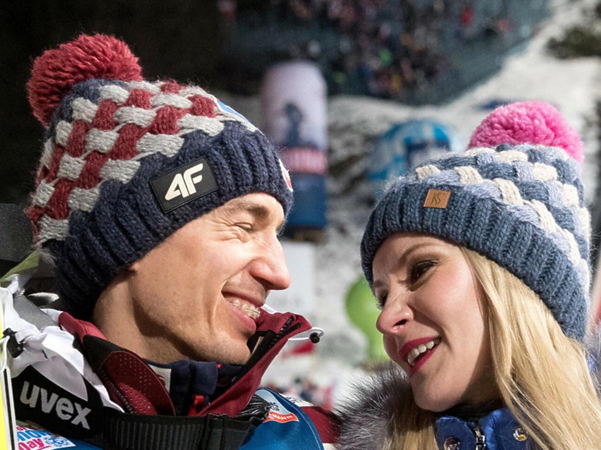 Kamil Stoch i żona Ewa
