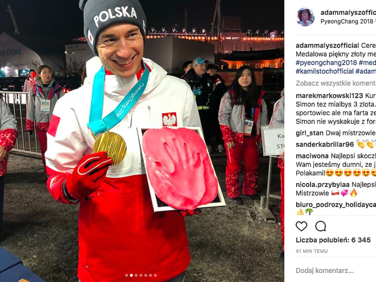 Kamil Stoch z medalem