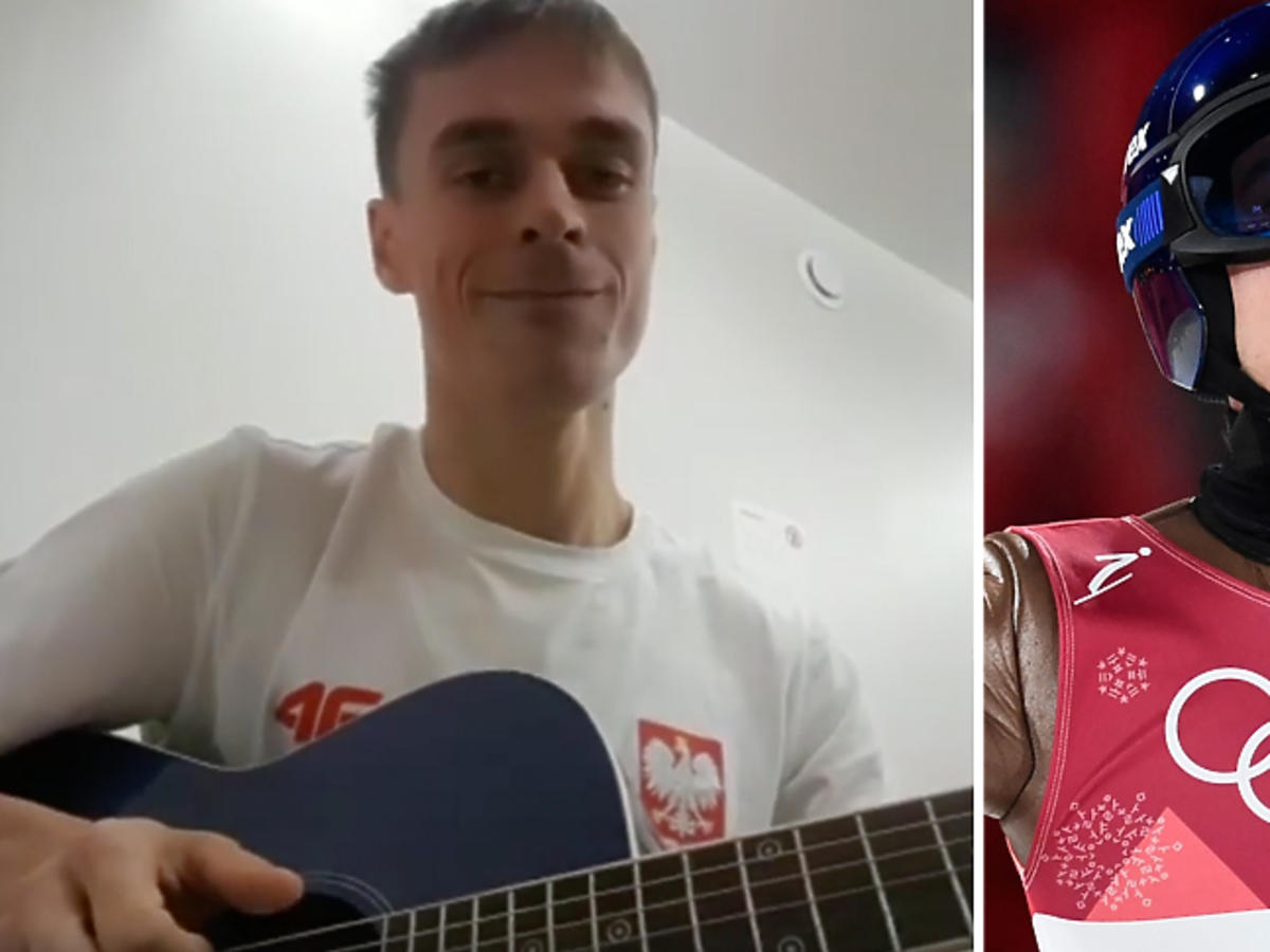 Kamil Stoch zdobył złoto, Piotr Żyła uczcił to hymnem na gitarze