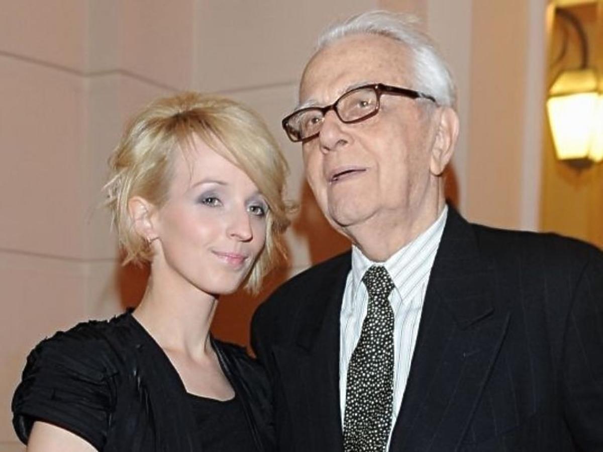 Kamila Łapicka z mężem Andrzejem Łapickim