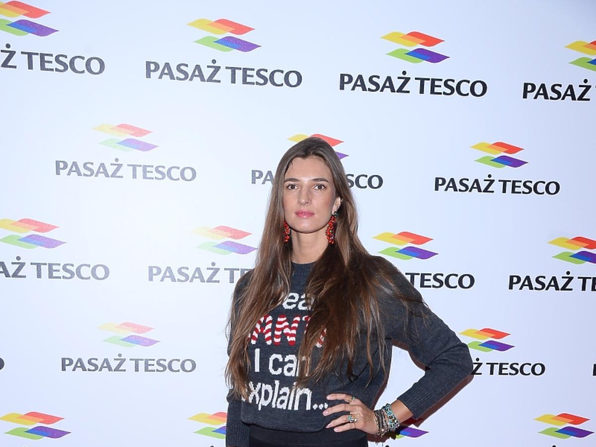 Kamila Szczawińska na imprezie Tesco