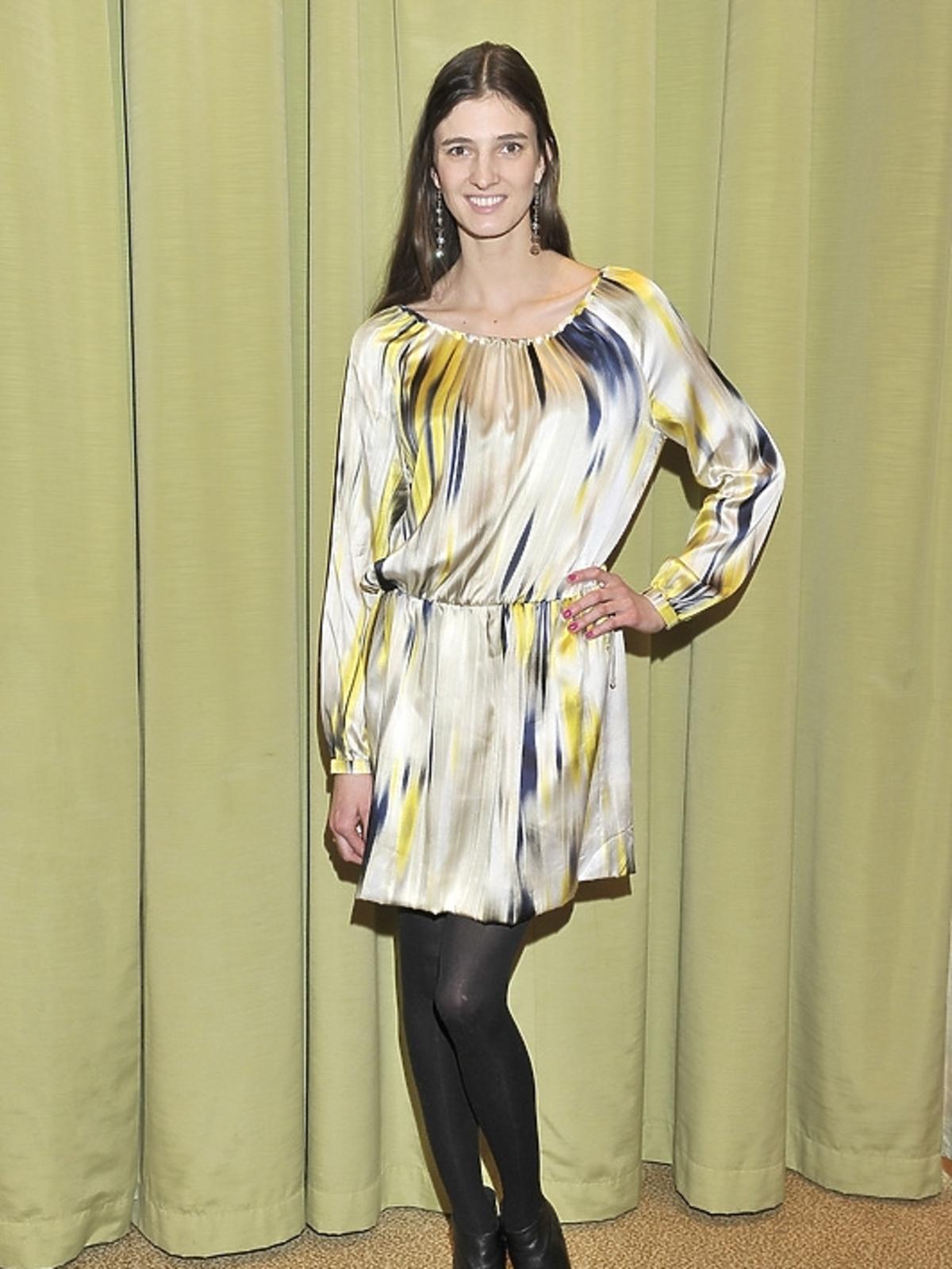 Kamila Szczawińska na konferencji prasowej Miss Polonia 2012