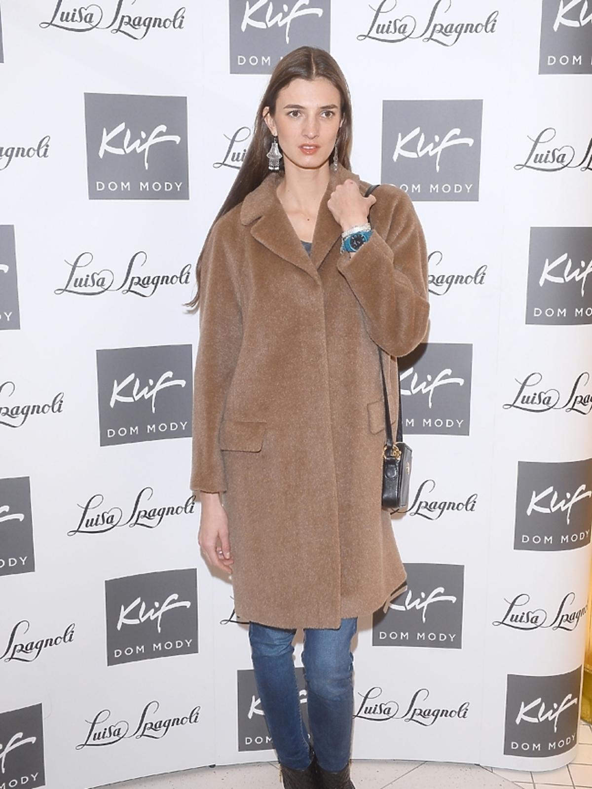 Kamila Szczawińska na otwarciu butiku Luisa Spagnoli