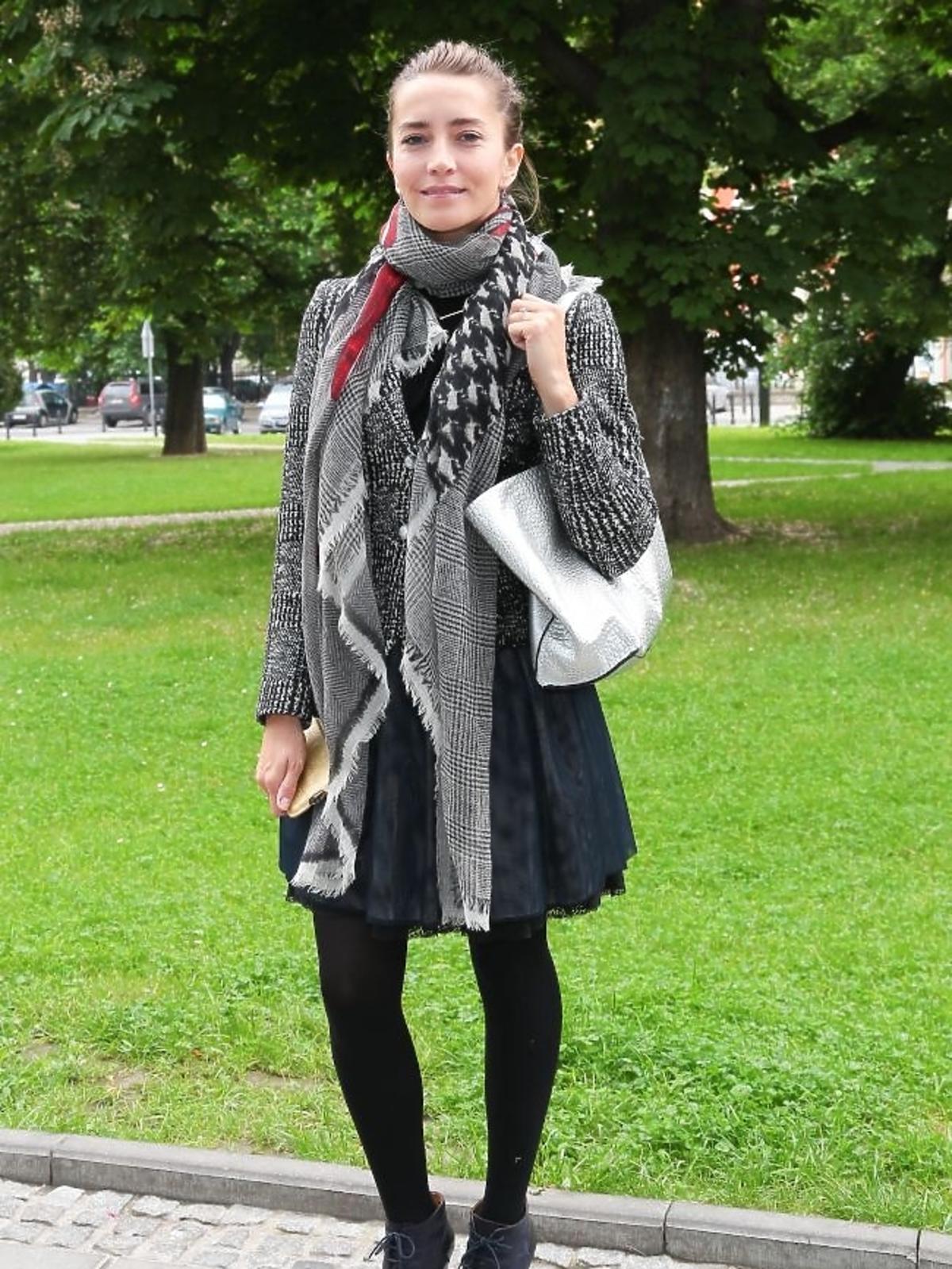 Kamilla Baar  na premierze książki Bożeny Jarnot