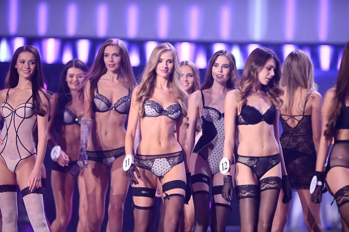 Kandydatki na Miss Polski 2015 w bieliźnie