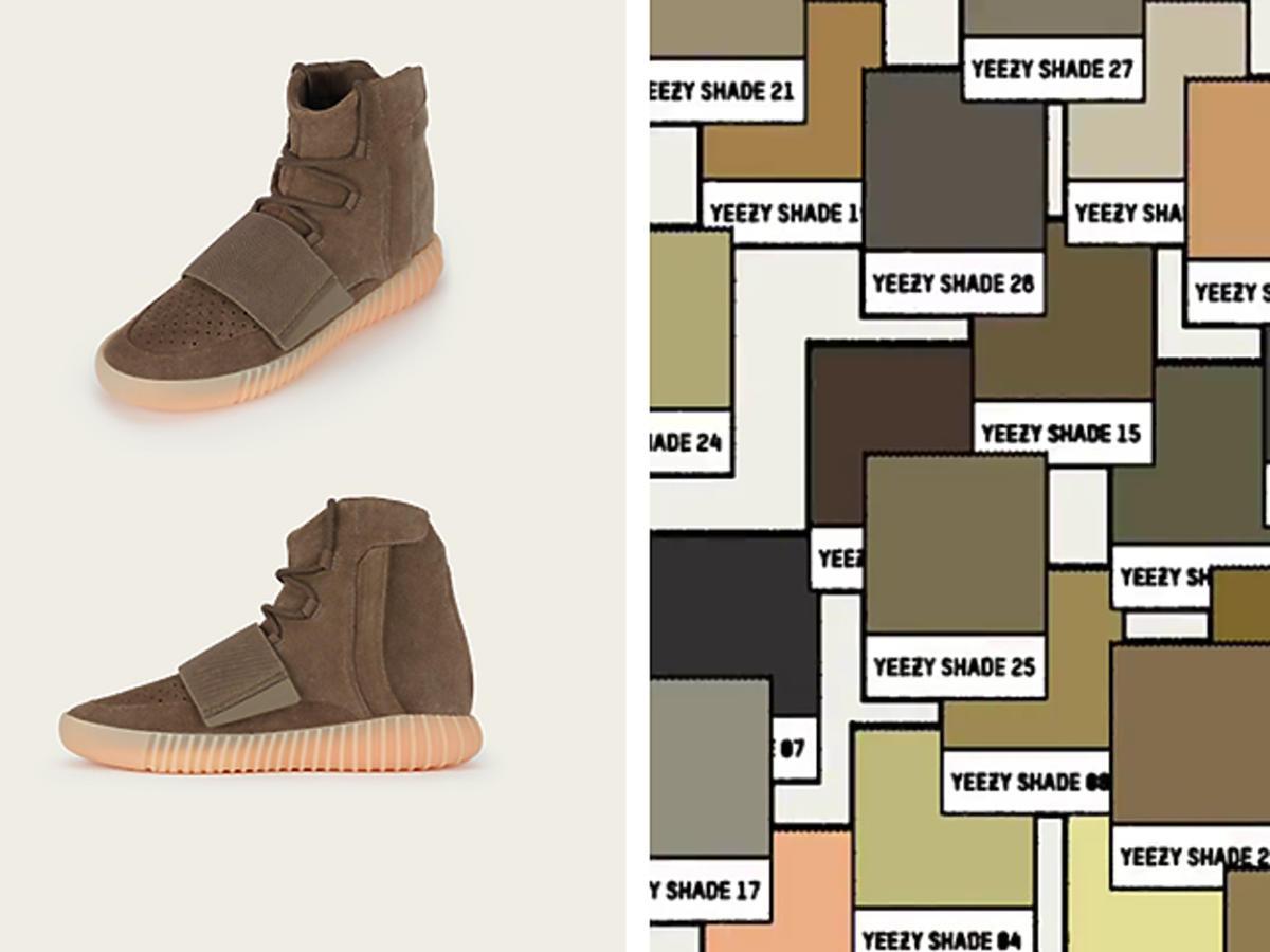 Kanye West, buty Yeezy Boost 750 jasny brąz - kolory