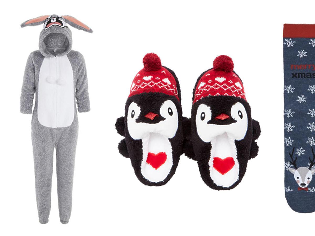 Kapcie z pingwinem