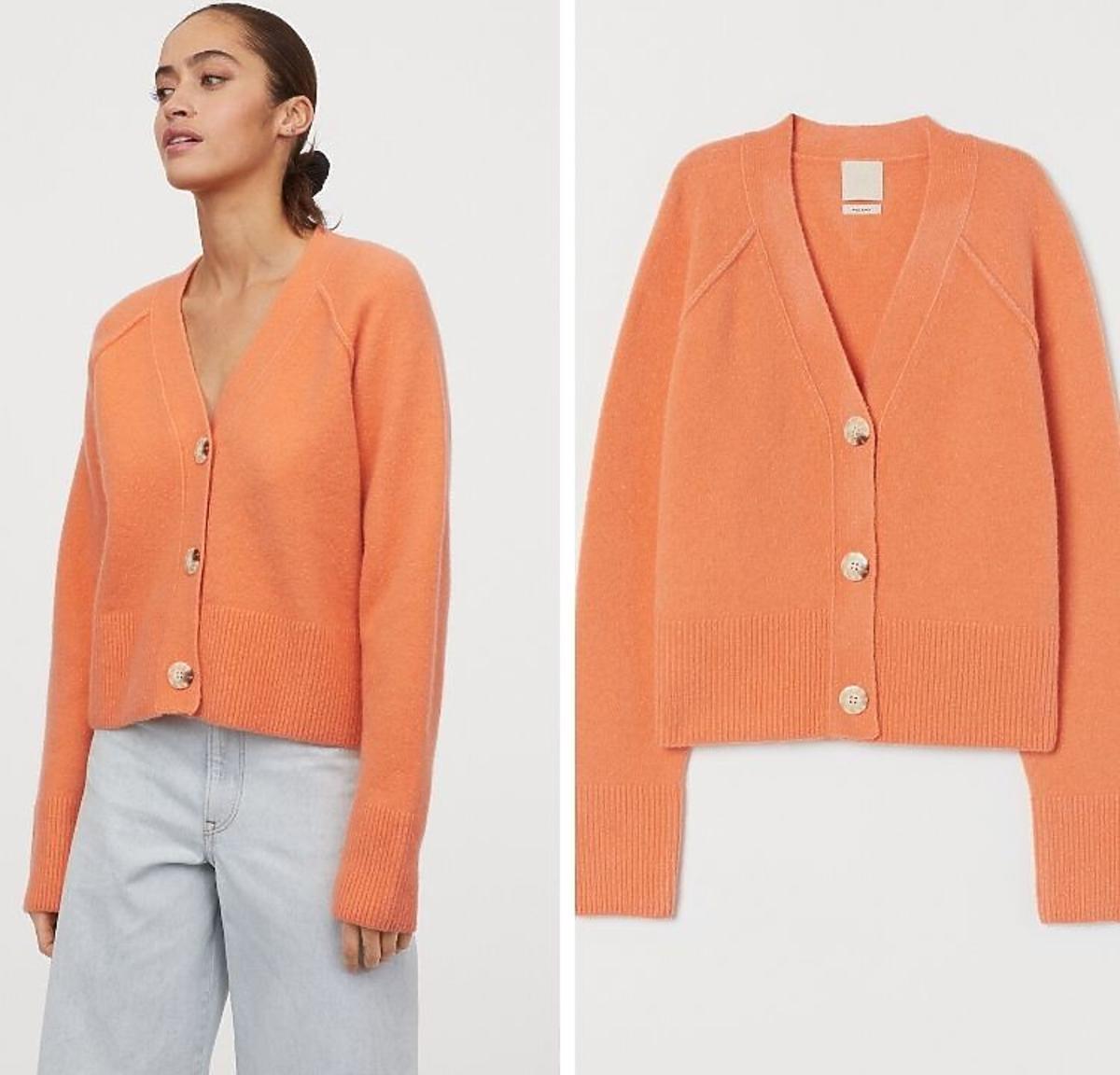 Kardigan pomarańczowy H&M