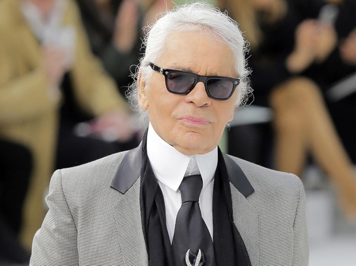 Karl Lagerfeld podczas pokazu Chanel