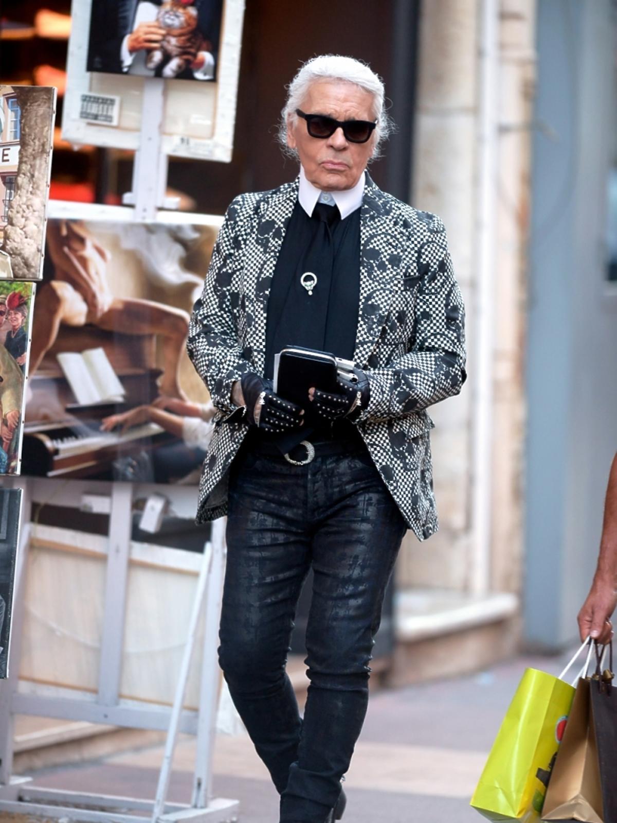 Karl Lagerfeld w Saint Tropez