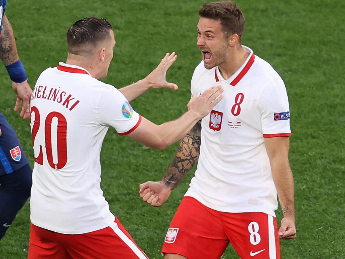 Karol Linetty strzelił pierwszą bramkę dla Polski podczas Euro 2020 (2021)