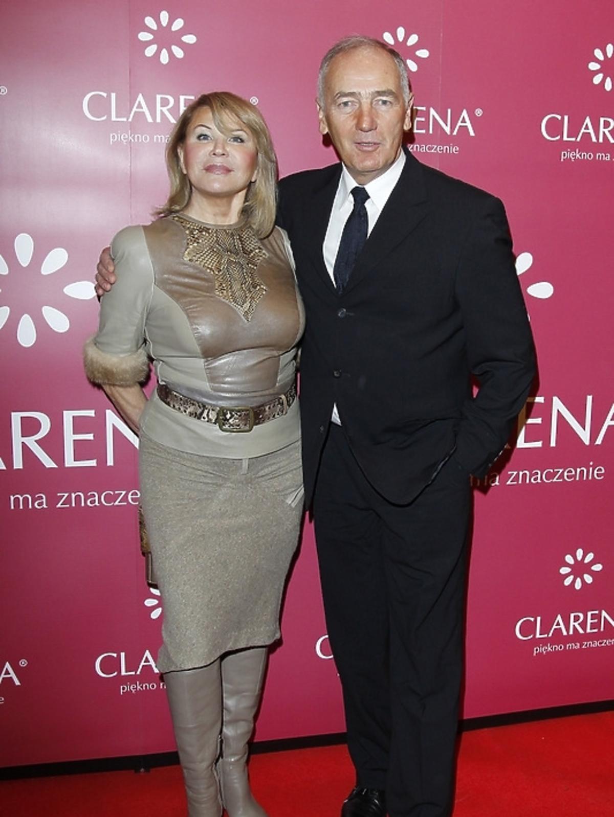 Karol Strasburger z żoną Ireną na finale konkursu
