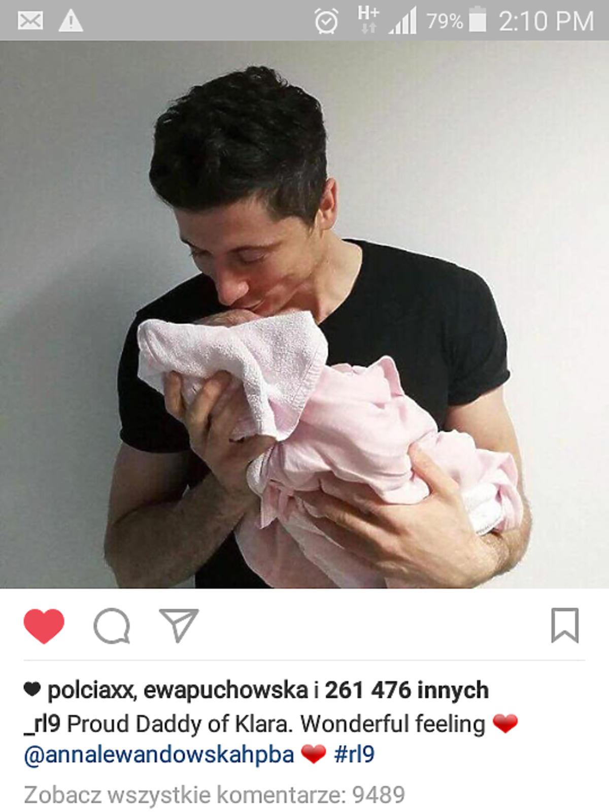 Karolina Ferenstein-Krasko pogratulowała córki Lewandowskim