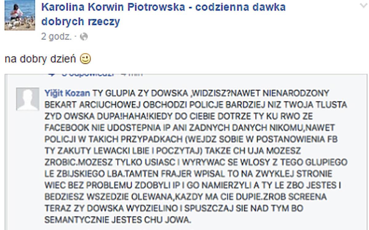 Karolina Korwin Piotrowska gratuluje Tamarze Arciuch