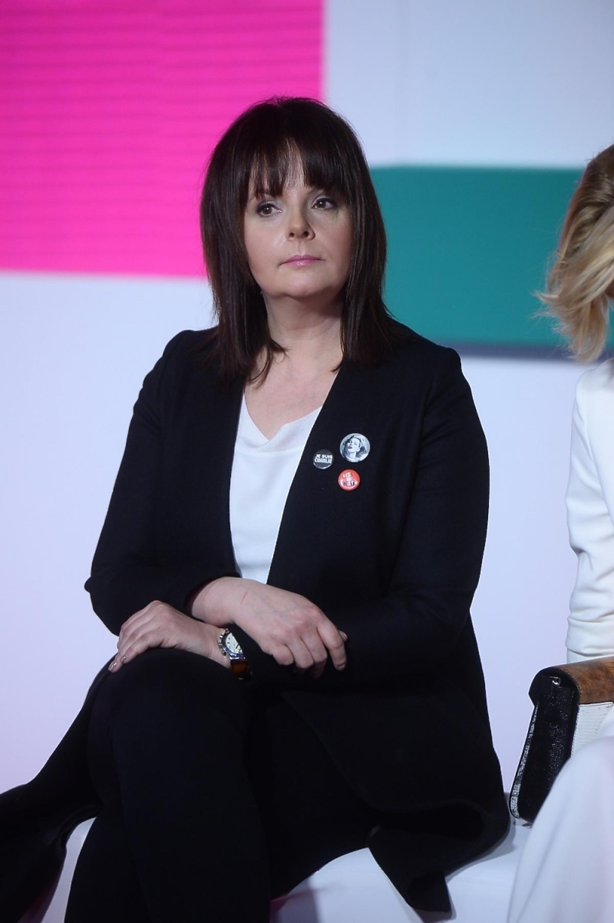 Karolina Korwin Piotrowska na prezentacji wiosennej ramówki TVN Style 2015