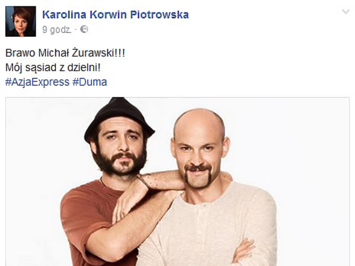 Karolina Korwin-Piotrowska o finale