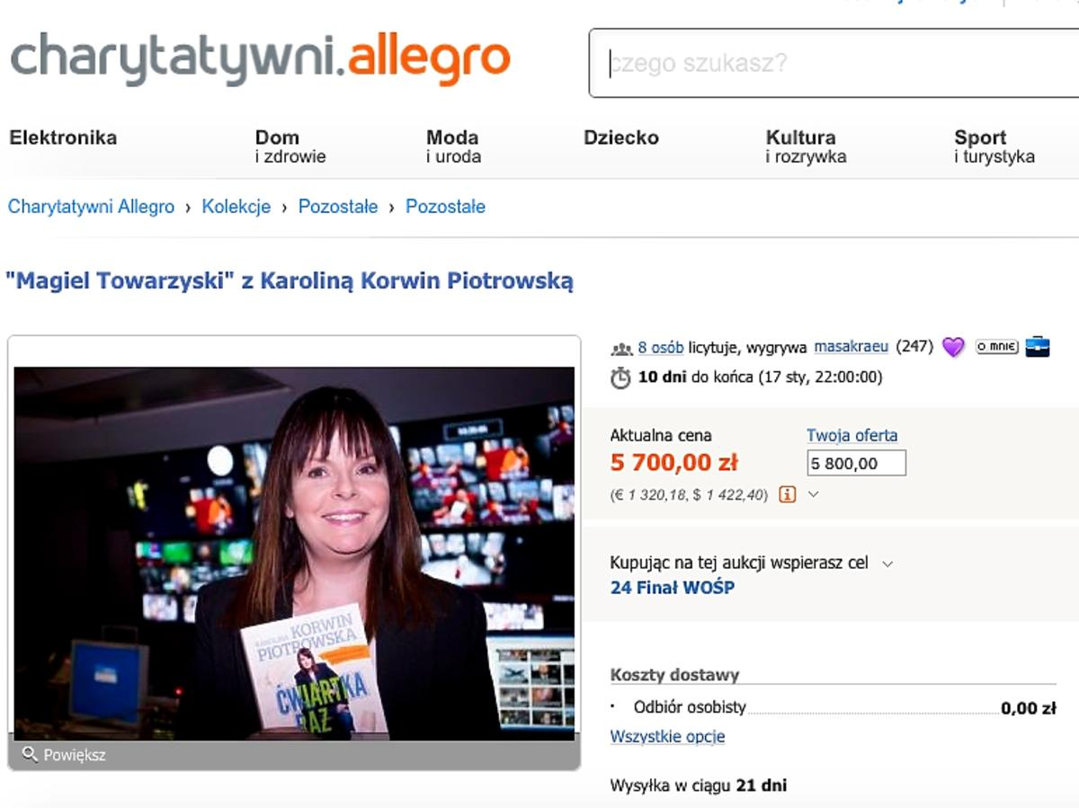 Karolina Korwin-Piotrowska wspiera WOŚP