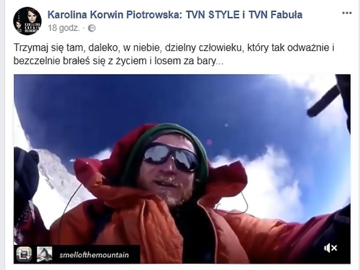 Karolina Korwin Piotrowska żegna Tomasza Mackiewicza