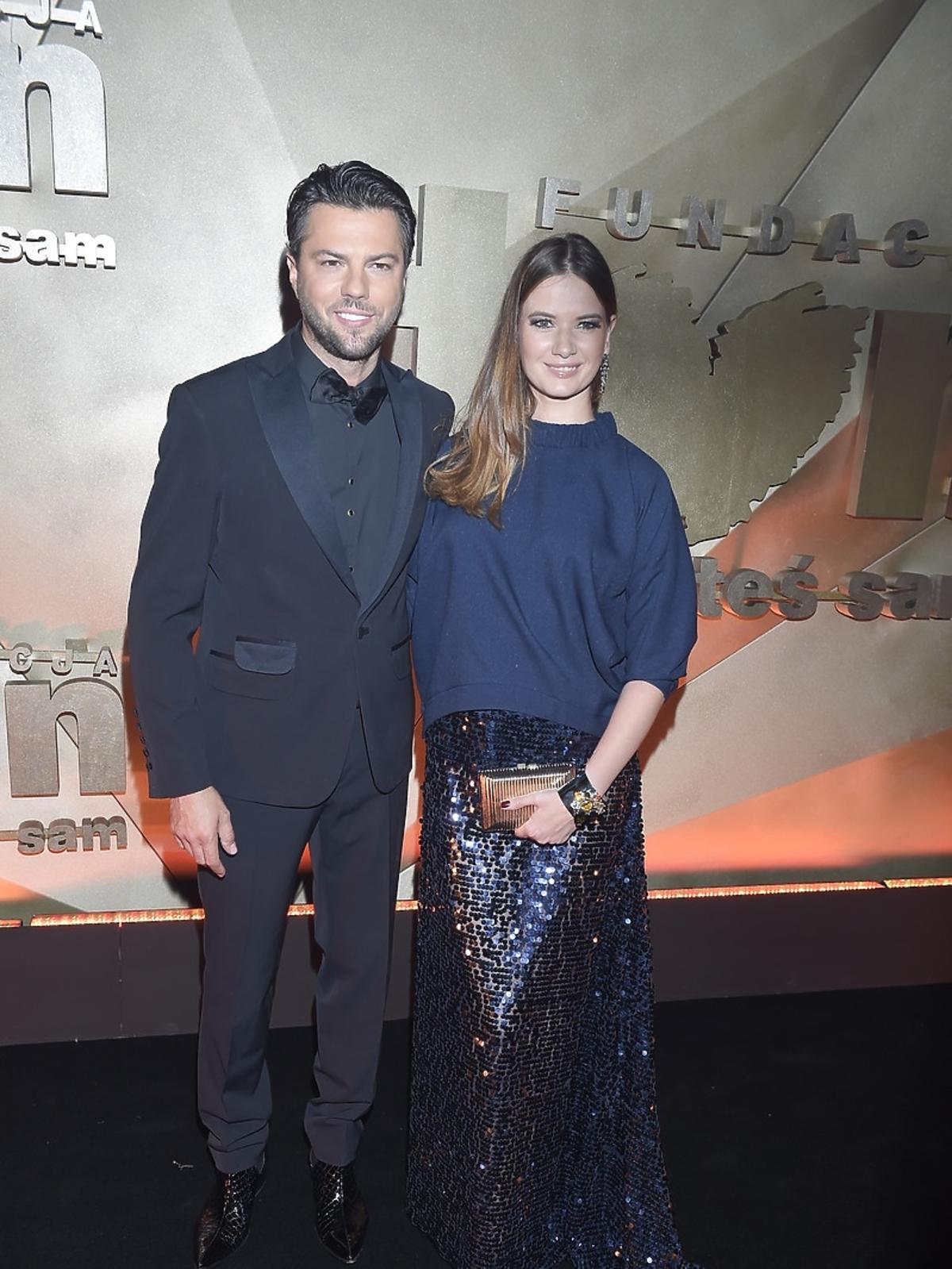 Karolina Malinowska i Olivier Janiak na Balu Fundacji TVN