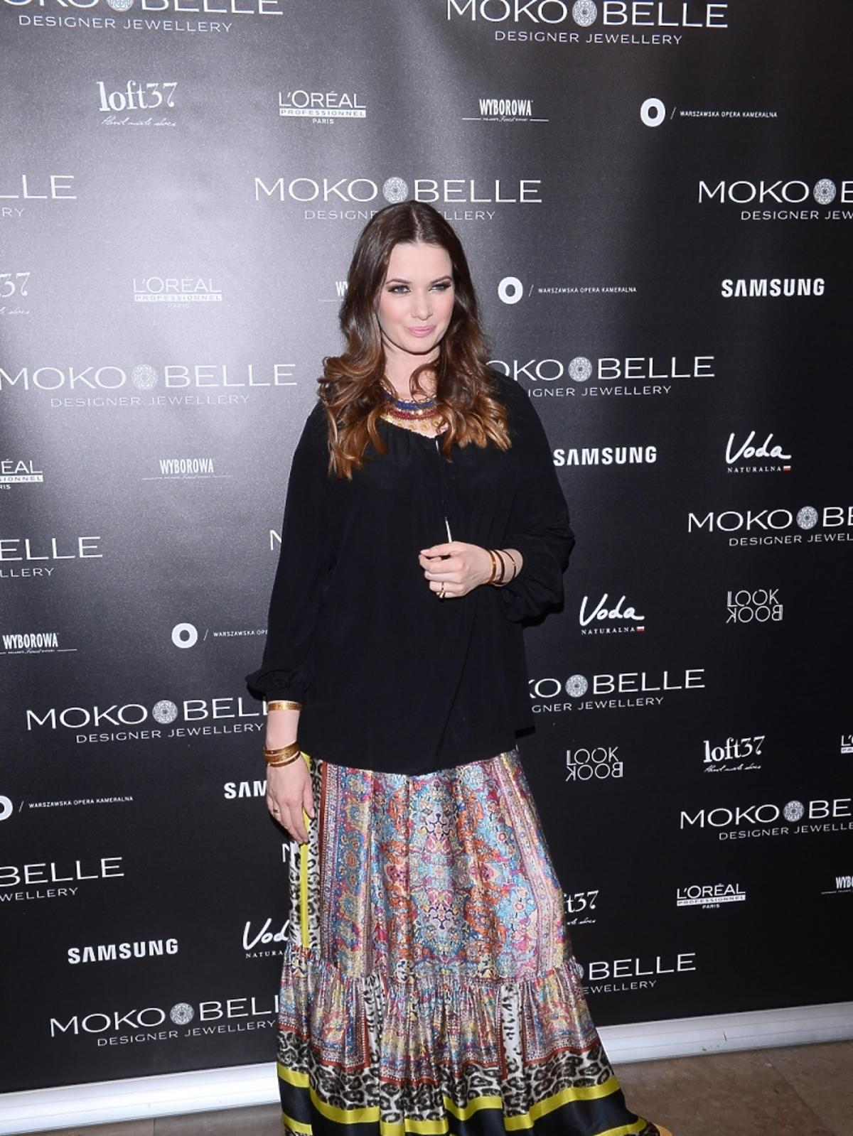 Karolina Malinowska na pokazie Mokobelle