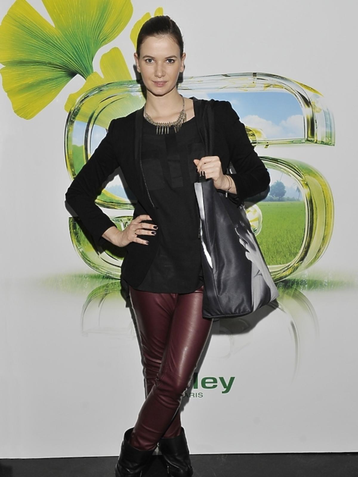 Karolina Malinowska na prezentacji kosmetyków Sisley