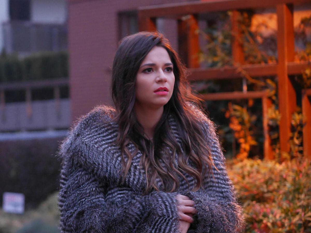 Karolina Sawka na planie serialu Pierwsza miłość