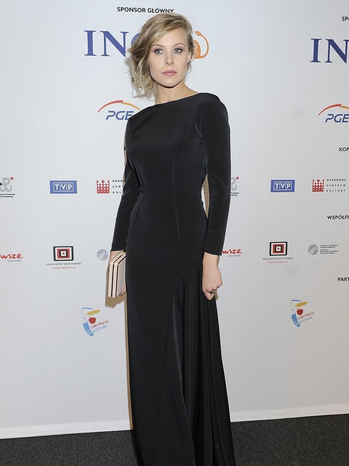 Karolina Staniec na premierze filmu Miasto 44